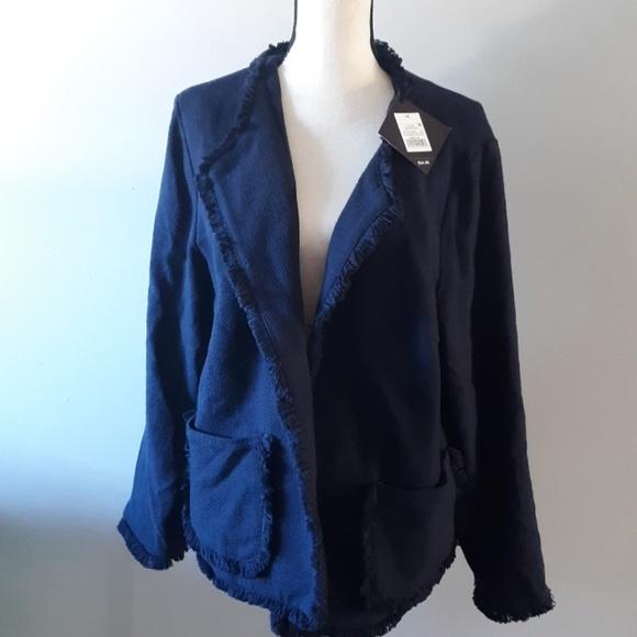 Ava /& Viv Womens Jacket Size 2x Military Black Gold New Nwt